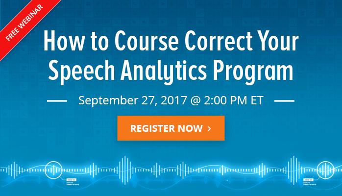 Set Your Speech Analytics Program Straight