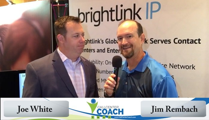 Joe White CTO of Brightlink with jim Rembach Call Center Coach